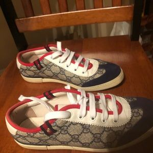 Gucci Barcelona running sneaker navyblue/red sz 37